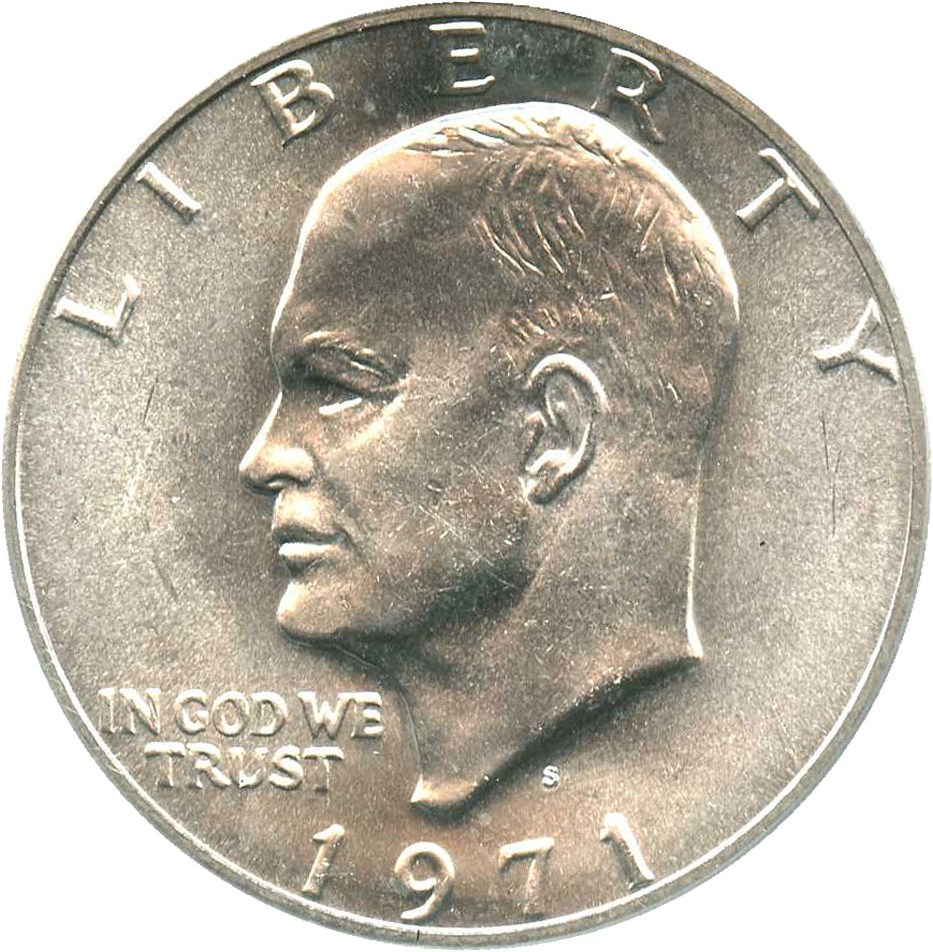 sample image for 1971-S $1  MS Silver