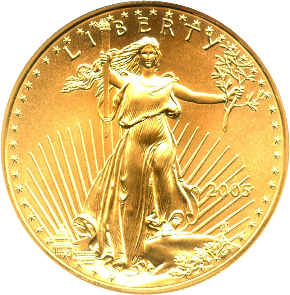 sample image for 2005 Gold Eagle $50  MS