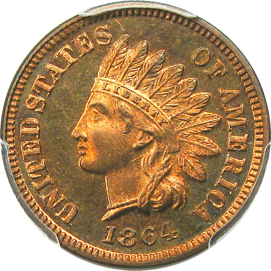 sample image for 1864-L 1c PR RB L On Ribbon