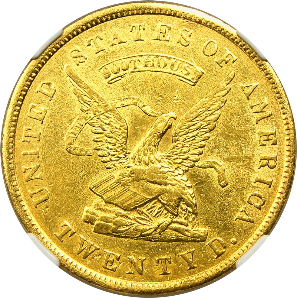 sample image for 1853 $20 Assay 900 THOUS