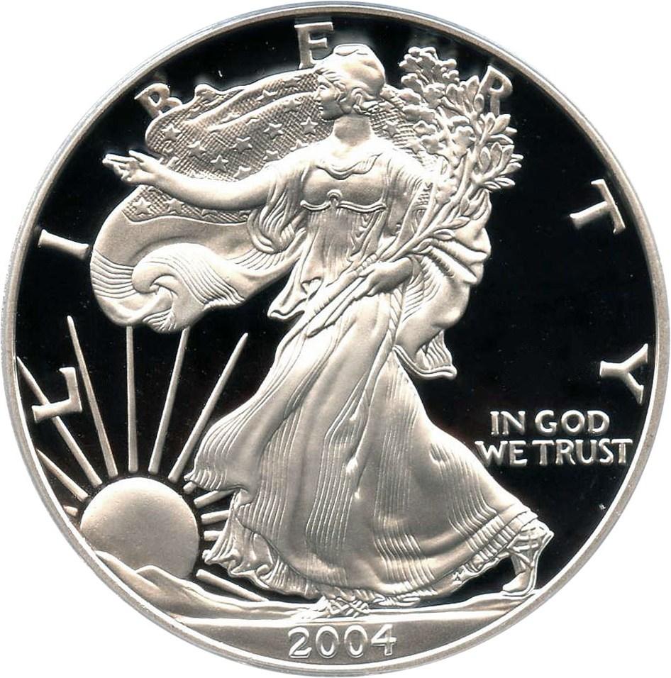 sample image for 2004-W Silver Eagle $1  PR DCAM