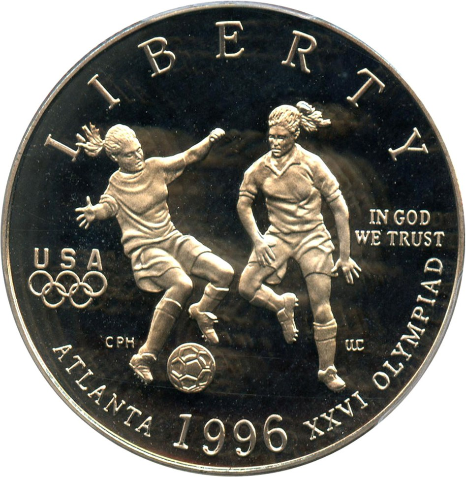 sample image for 1996-S Olympic Soccer 50c PR DCAM