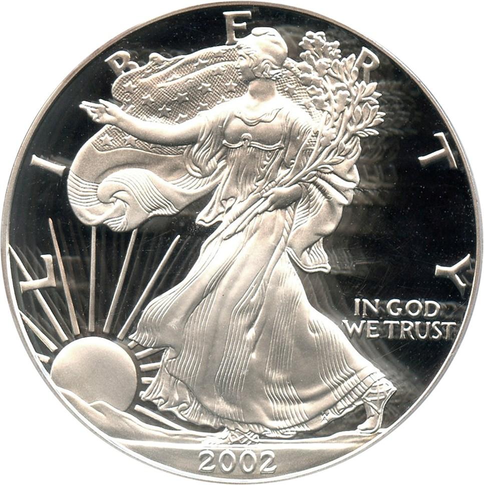 sample image for 2002-W Silver Eagle $1  PR DCAM