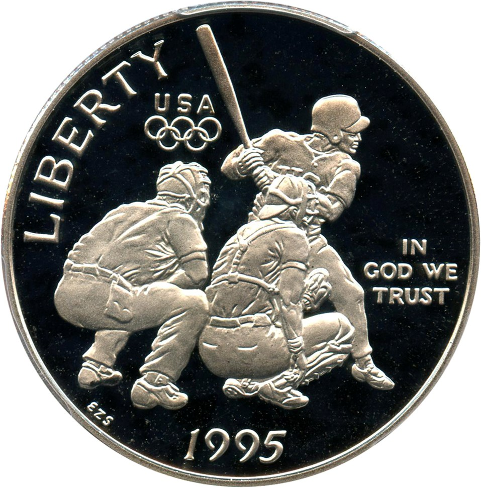 sample image for 1995-S Olympic Baseball 50c PR DCAM