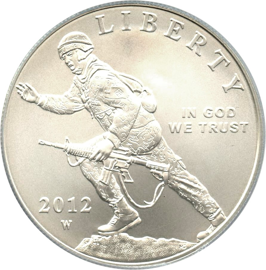 sample image for 2012-W Infantry $1  MS