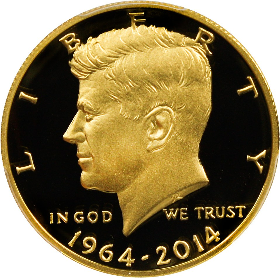 sample image for 2014-W JFK 50th Anniv Gold 50c PR DCAM