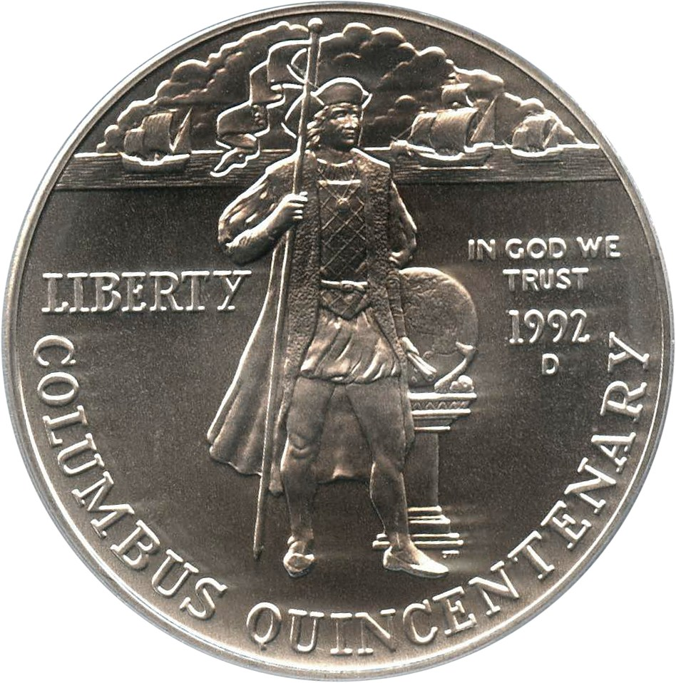 sample image for 1992-D Columbus $1  MS