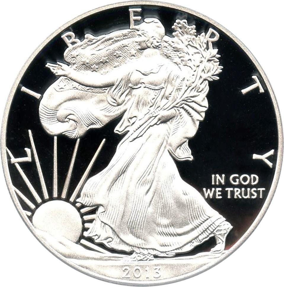 sample image for 2013-W Silver Eagle $1  PR DCAM