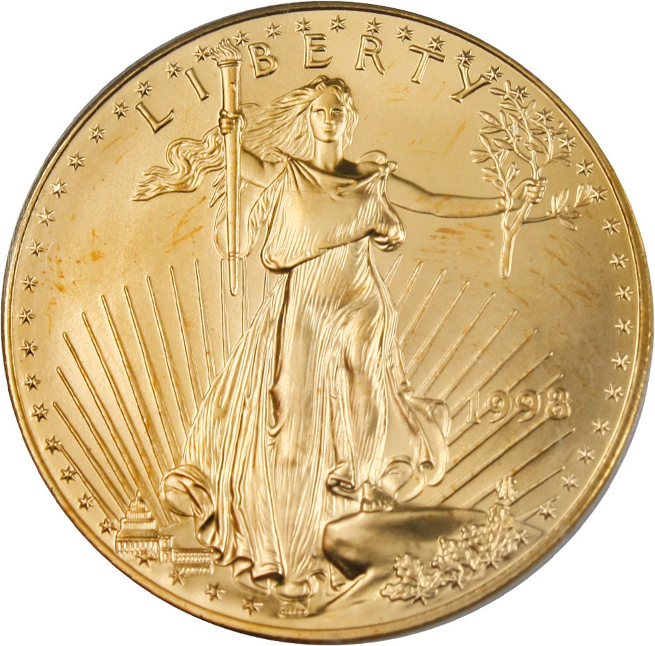 sample image for 1998 Gold Eagle $50  MS