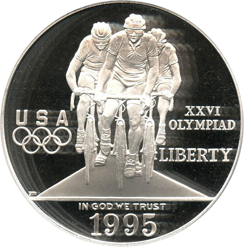 sample image for 1995-P Olympic Cycling $1  PR DCAM
