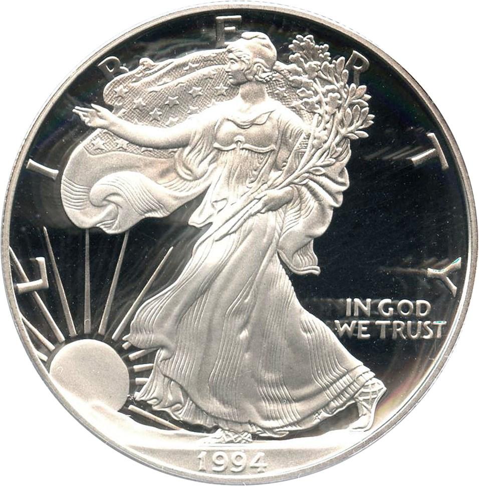 sample image for 1994-P Silver Eagle $1  PR DCAM