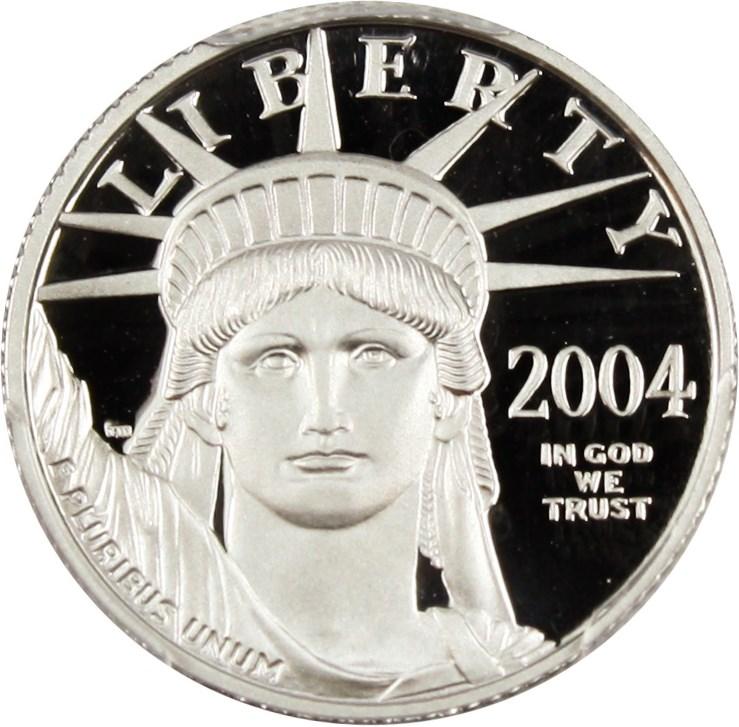 sample image for 2004-W Platinum Eagle $10  PR DCAM