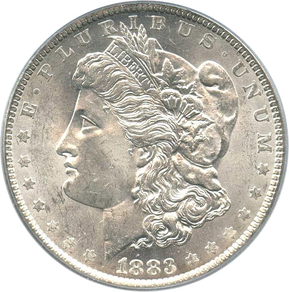 sample image for 1883-O $1  MS VAM-36A, Partial E Rev