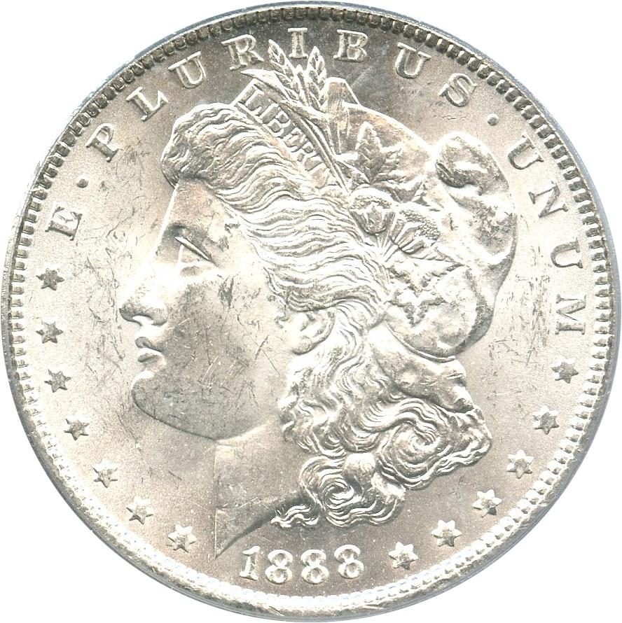 sample image for 1888 $1  MS VAM-6, Doubled Reverse