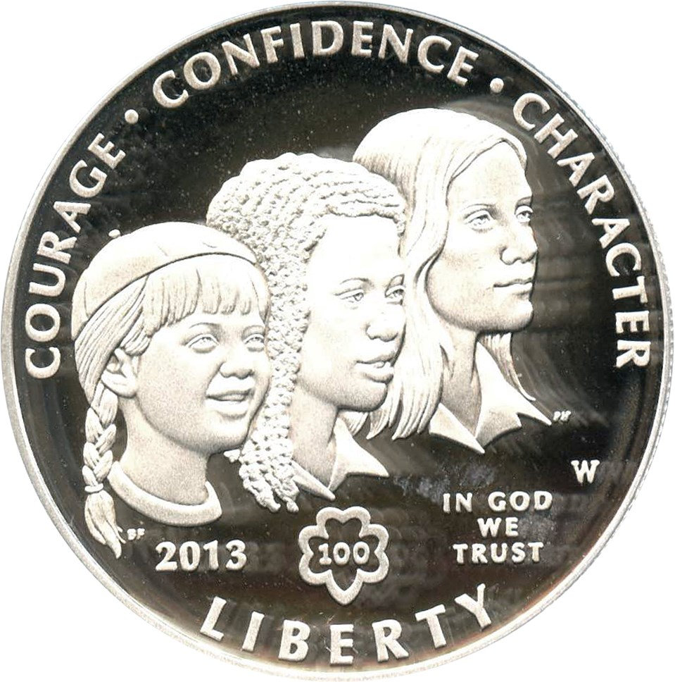sample image for 2013-W Girl Scouts $1  PR DCAM