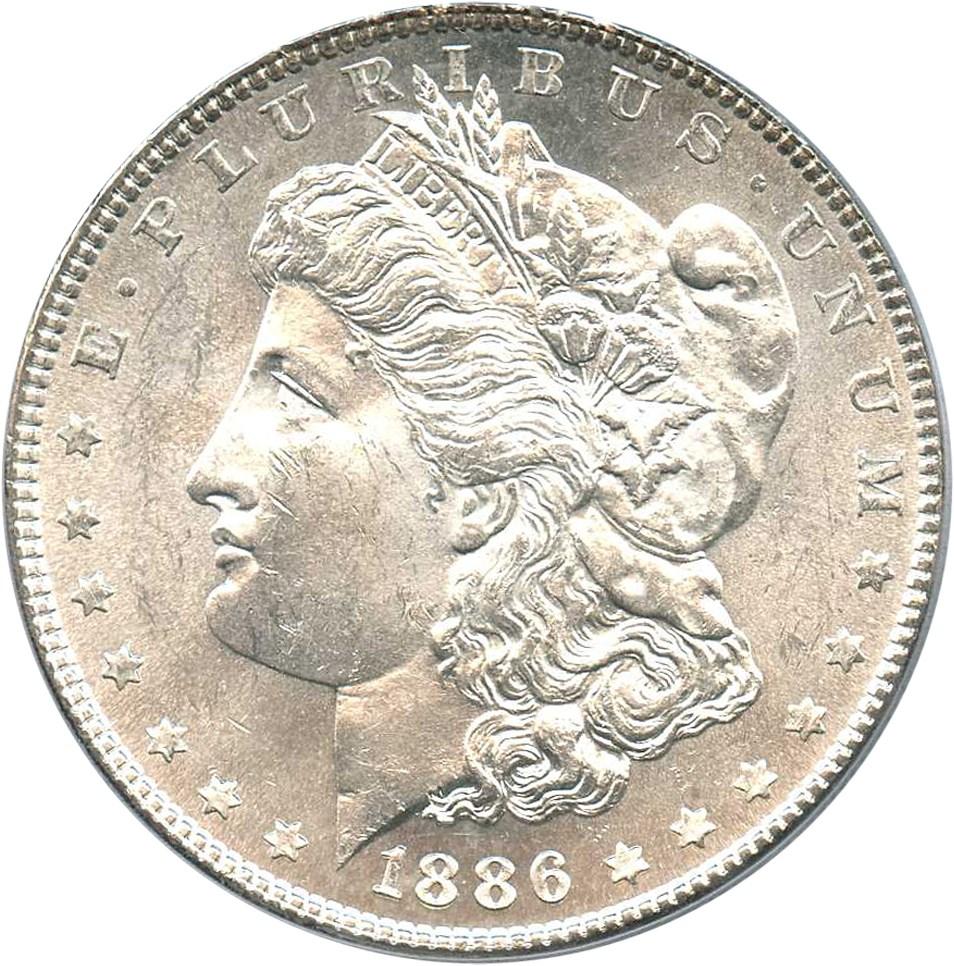 sample image for 1886 $1  MS VAM-21, Line in M, MPD