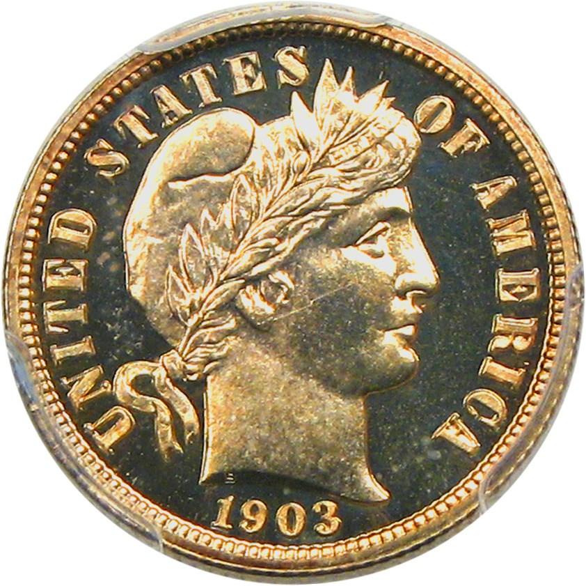 sample image for 1903 10c PR CAM