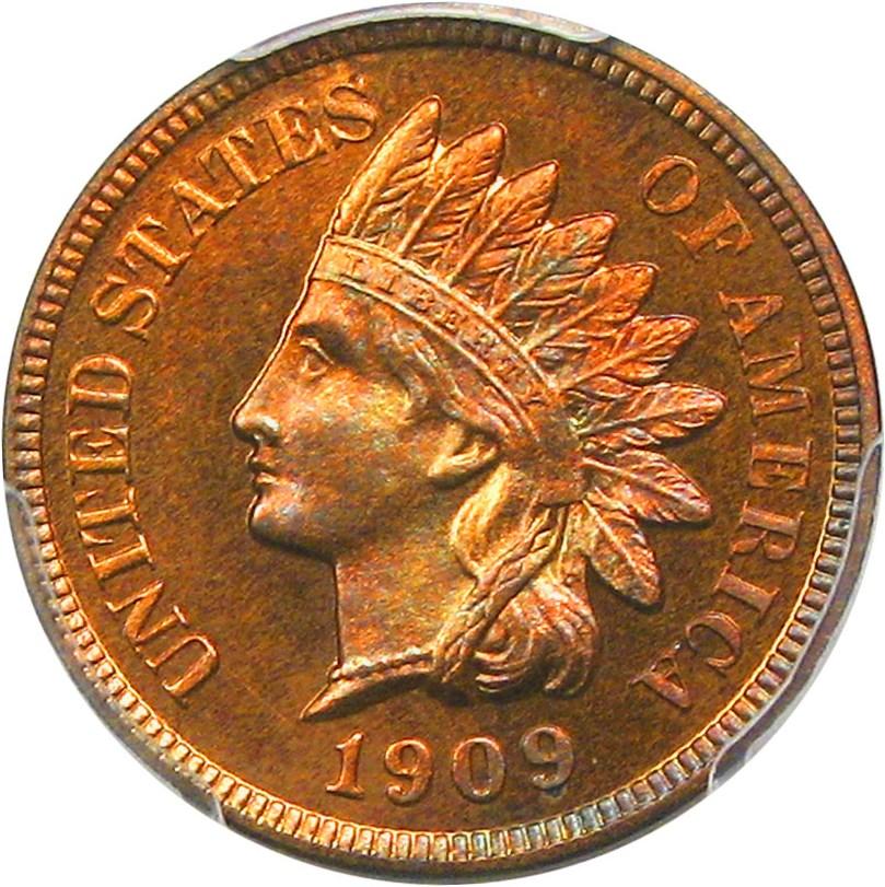 sample image for 1909 Indian 1c PR RB