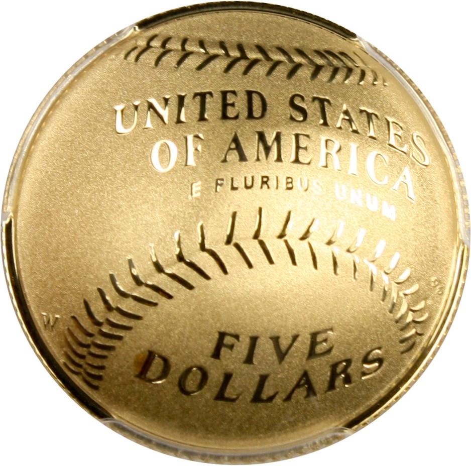 sample image for 2014-W Baseball Hall of Fame $5  PR DCAM