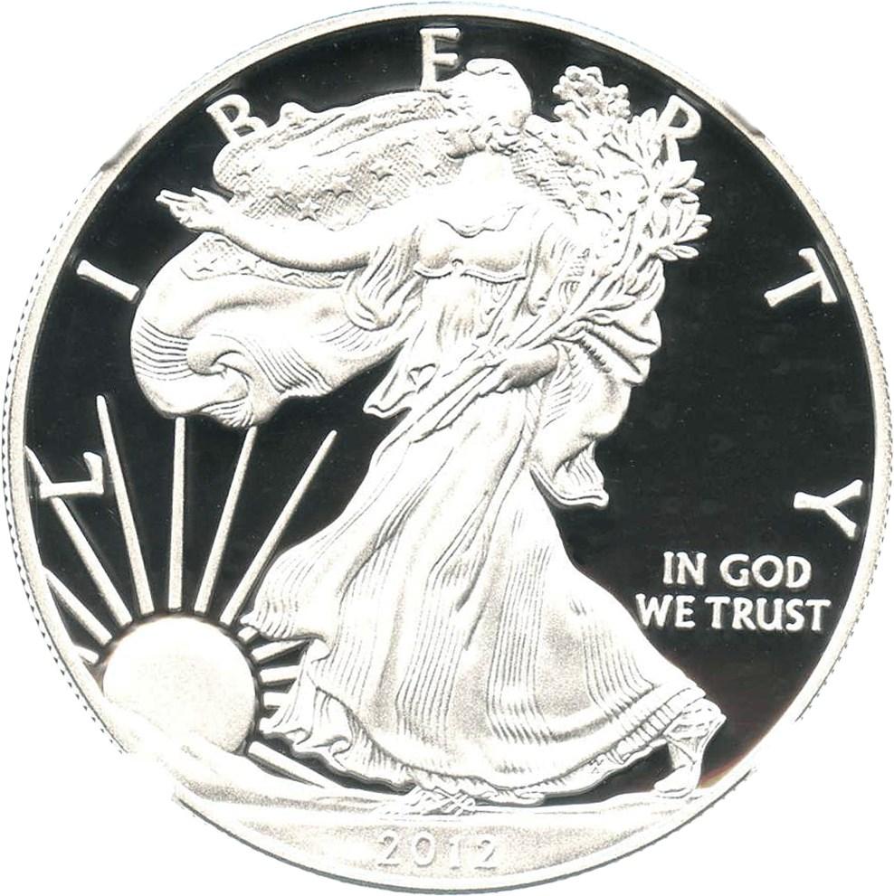 sample image for 2012-W Silver Eagle $1  PR DCAM