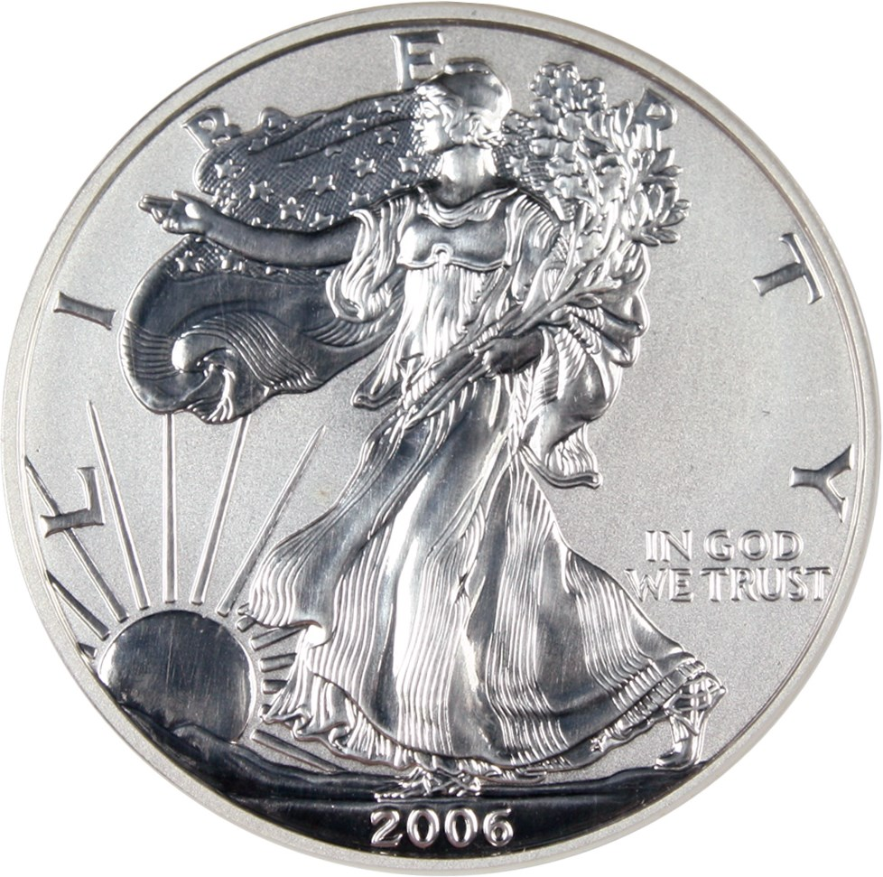 sample image for 2006-P Silver Eagle $1  PR Reverse Proof
