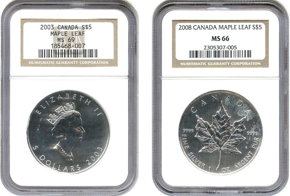 sample image for 2003 Maple Leaf $5  MS