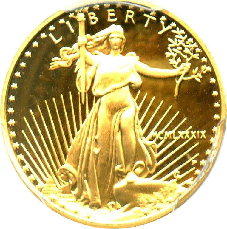 sample image for 1989-P Gold Eagle $5  PR DCAM