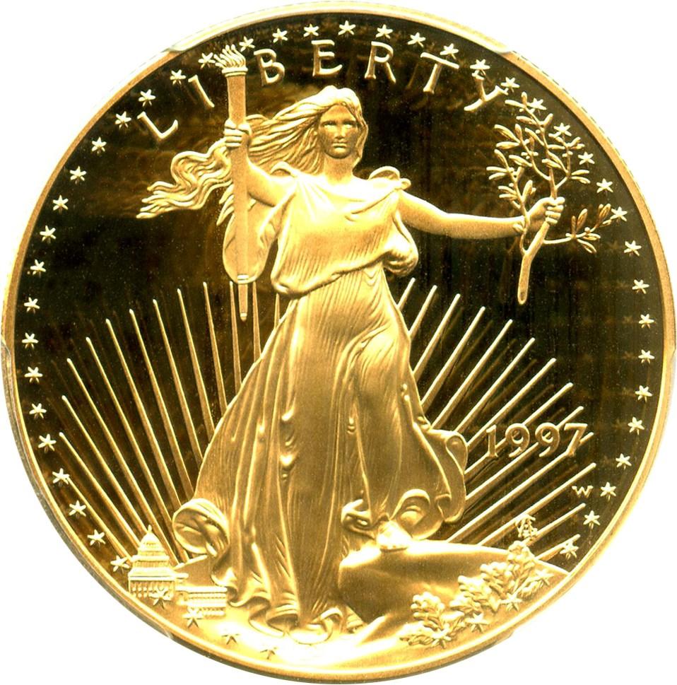sample image for 1997-W Gold Eagle $50  PR DCAM