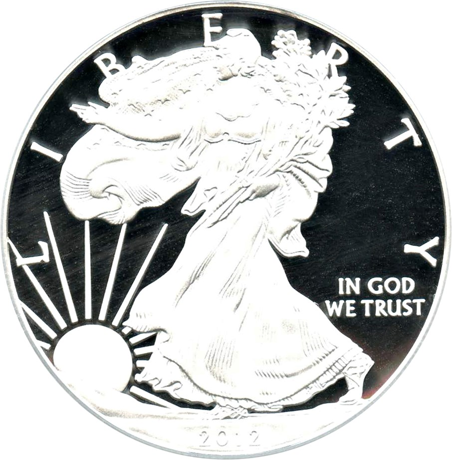 sample image for 2012-S Silver Eagle $1  PR Reverse Proof