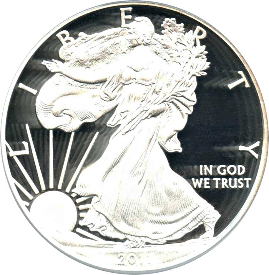 sample image for 2011-W Silver Eagle $1  PR DCAM