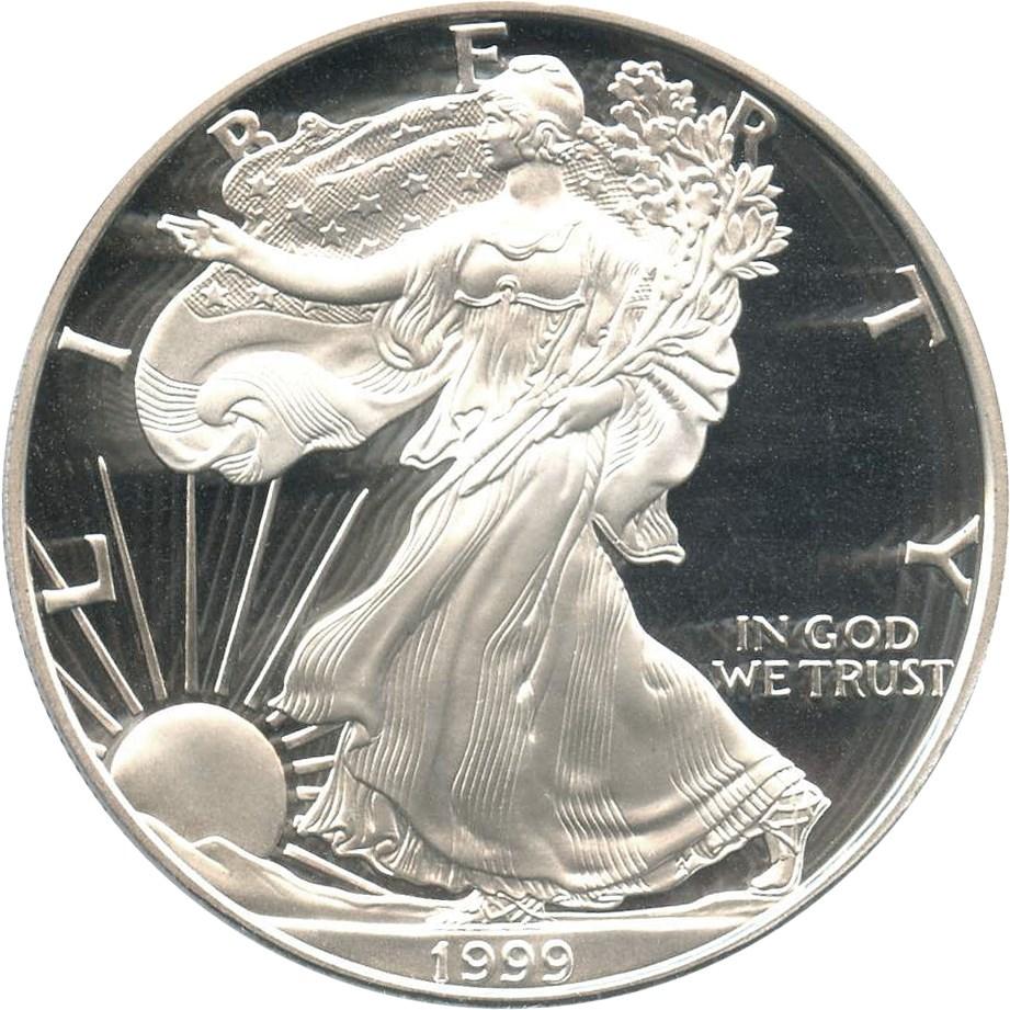 sample image for 1999-P Silver Eagle $1  PR DCAM