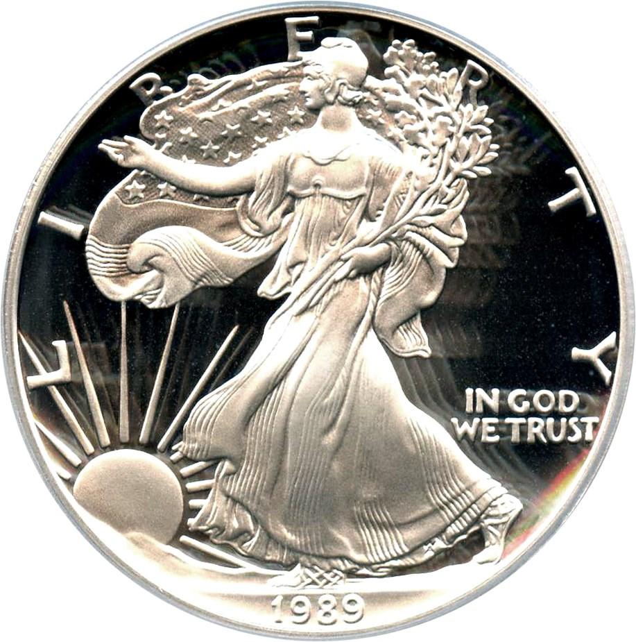 sample image for 1989-S Silver Eagle $1  PR DCAM