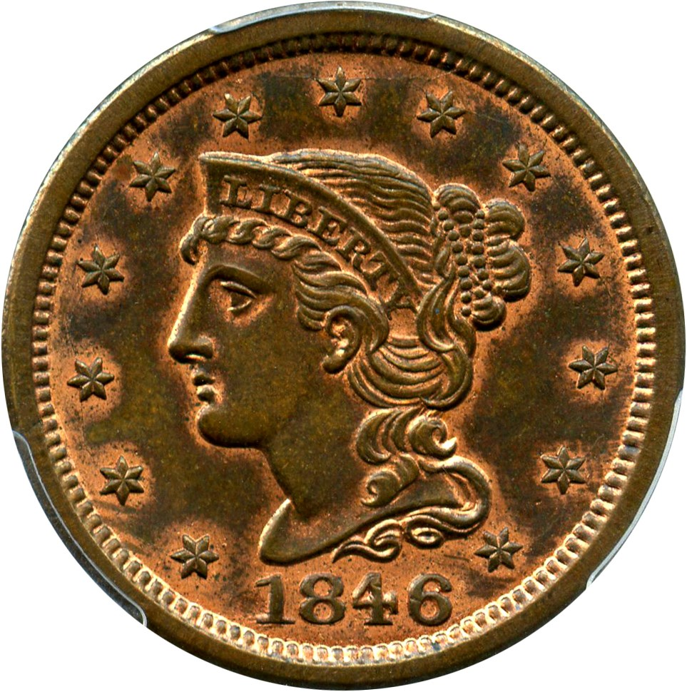 sample image for 1846 1c MS RB Small Date