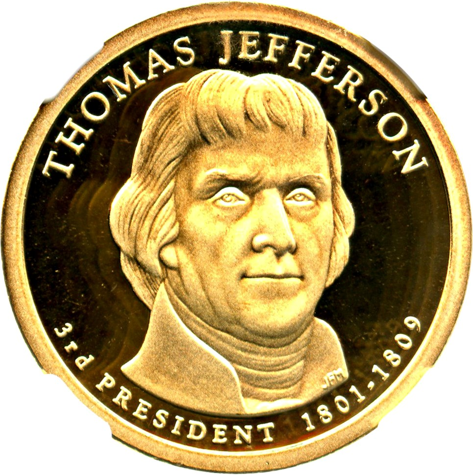 sample image for 2007-S Thomas Jefferson $1  PR DCAM