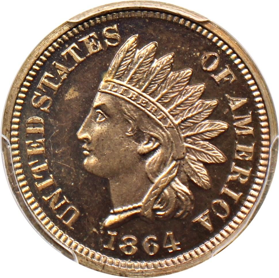sample image for 1864 1c PR CAM Copper Nickel