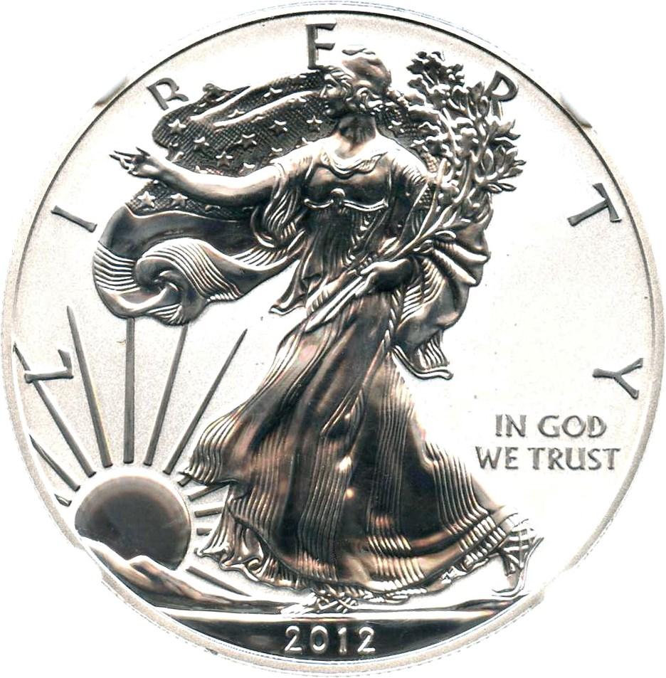 sample image for 2012-S Silver Eagle $1  PR DCAM