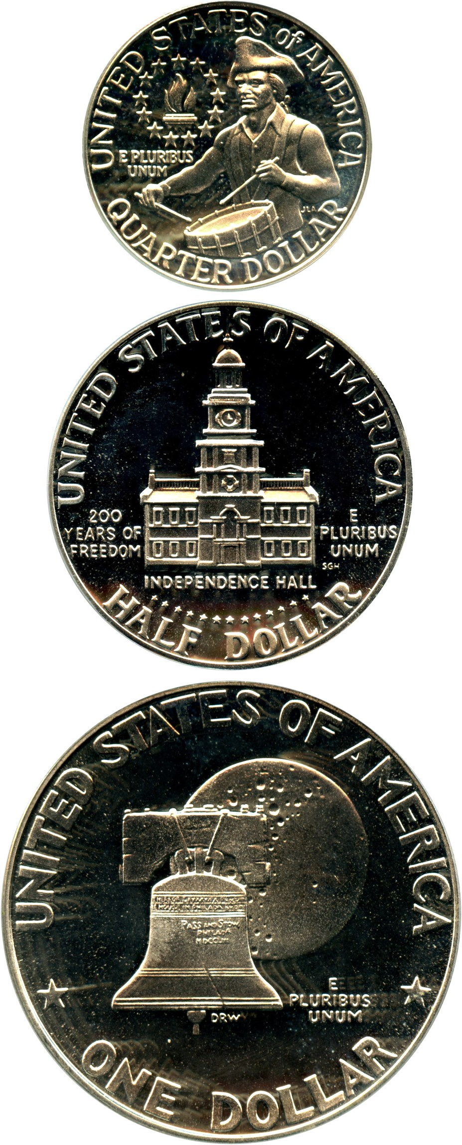 sample image for 1976 Silver (3 Coins) Proof Set 25c-$1 PR