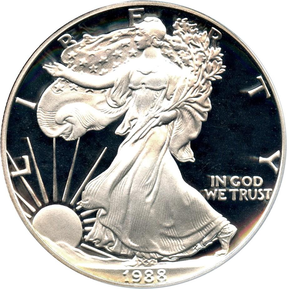 sample image for 1988-S Silver Eagle $1  PR DCAM