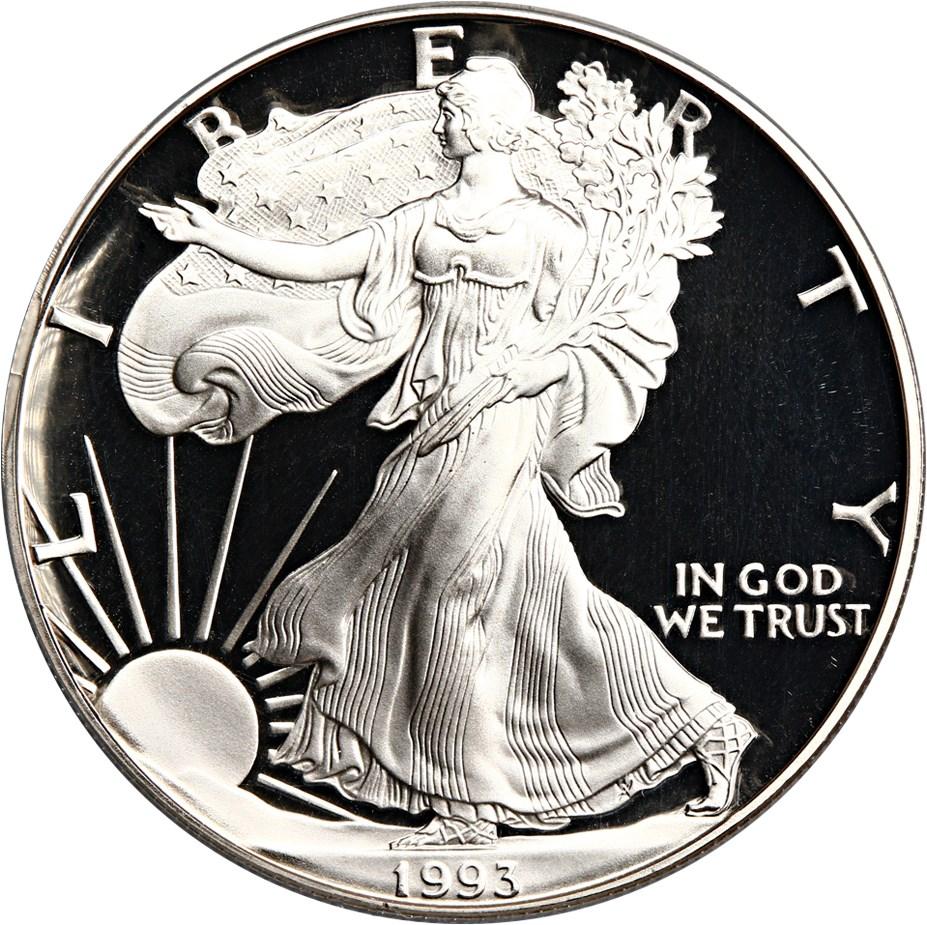 sample image for 1993-P Silver Eagle $1  PR DCAM