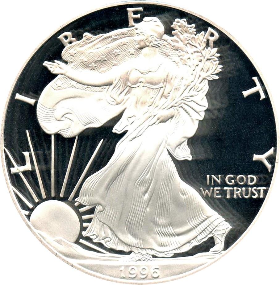 sample image for 1996-P Silver Eagle $1  PR DCAM