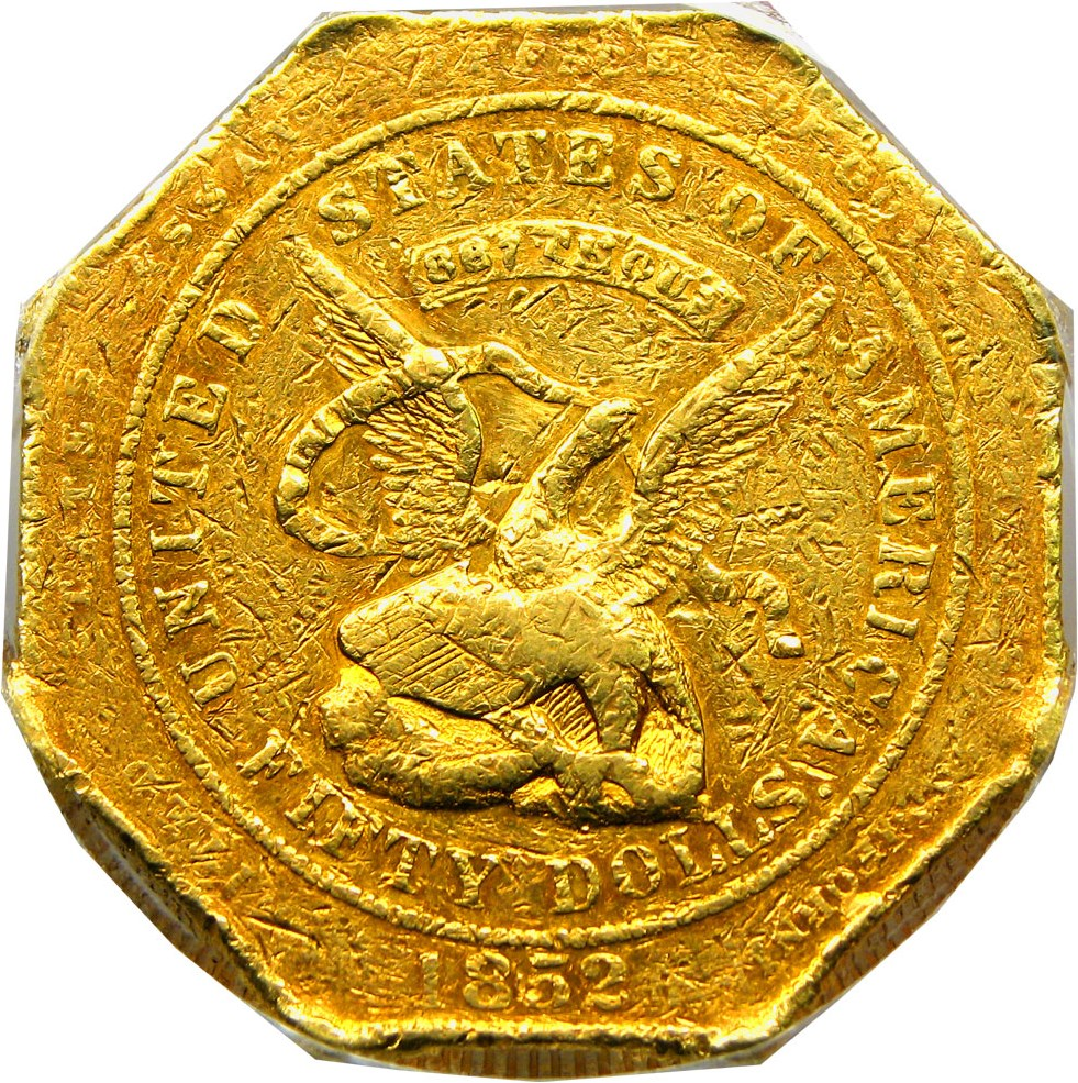 sample image for 1852 $50 Assay, 887 THOUS