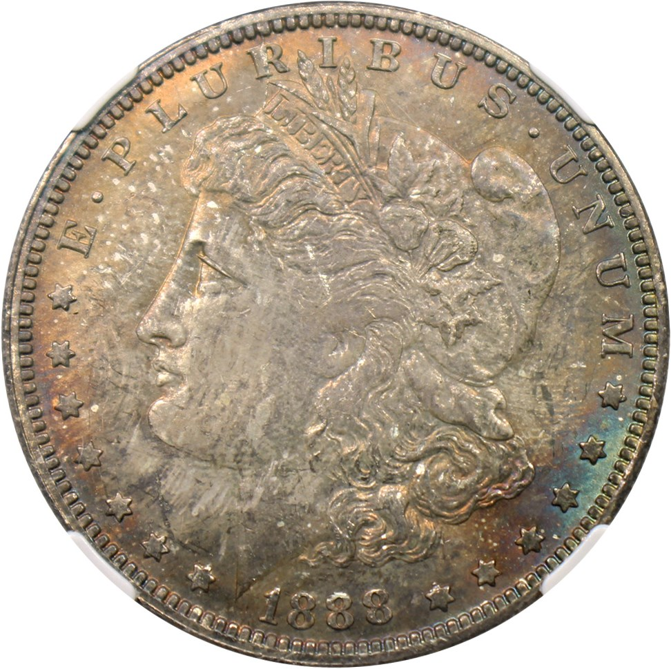sample image for 1888-O $1  MS VAM-1A, Clashed E