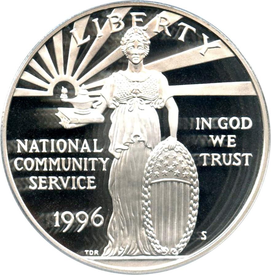 sample image for 1996-S National Community Service $1  PR DCAM