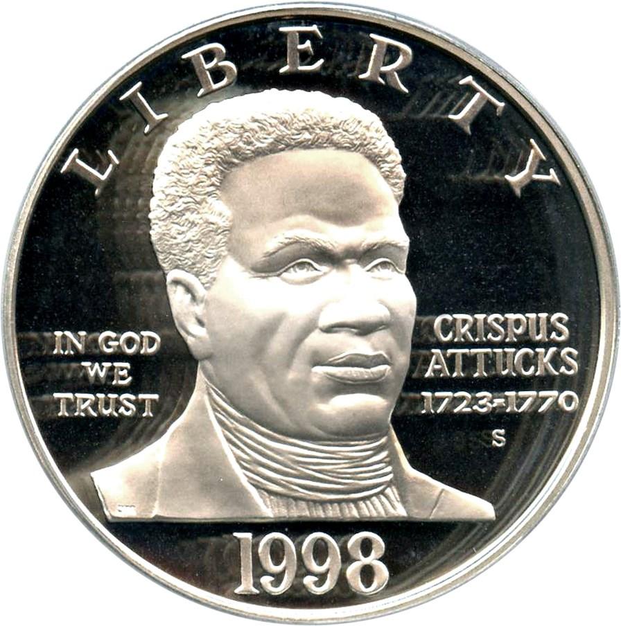 sample image for 1998-S Black Patriots $1  PR DCAM