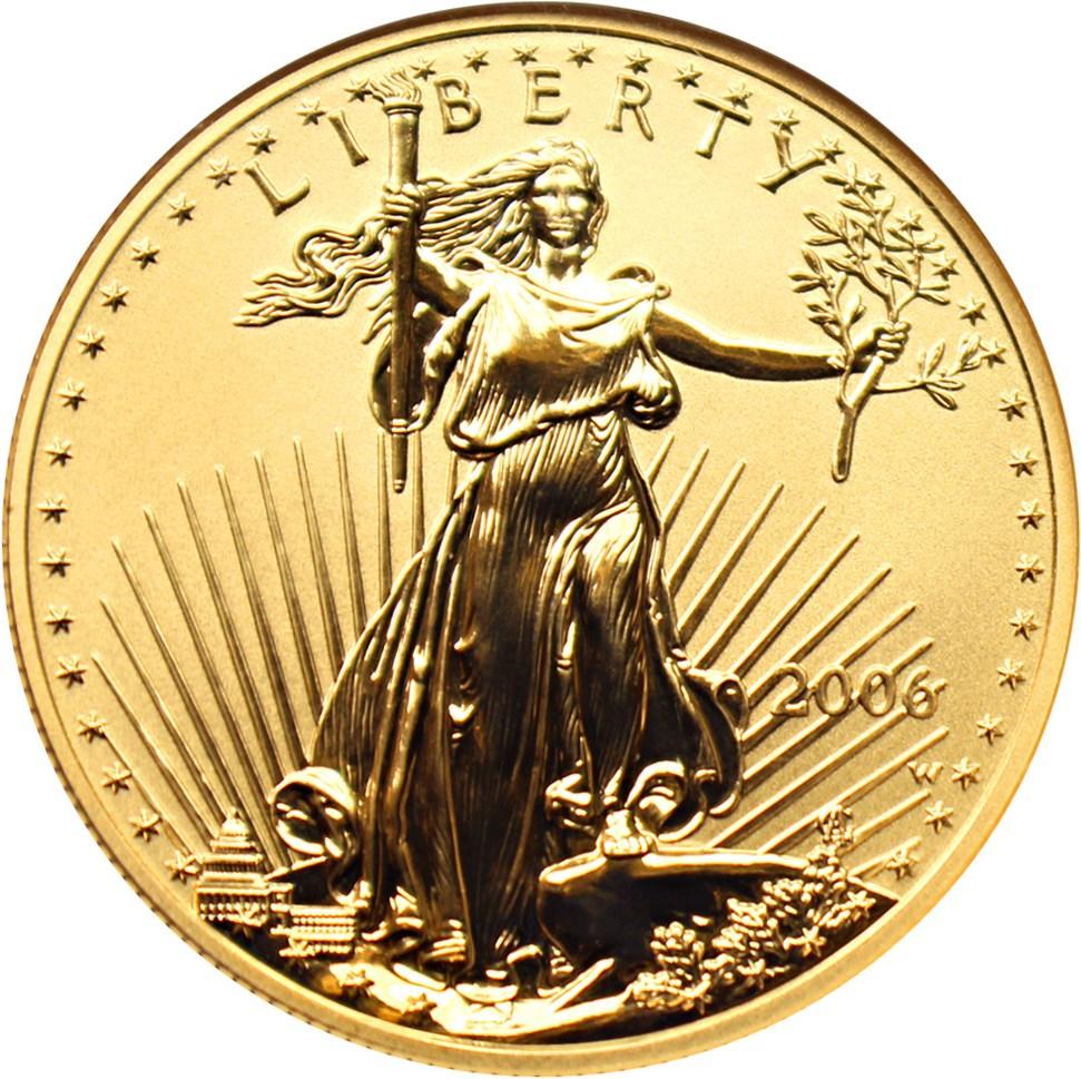 sample image for 2006-W Gold Eagle $50  PR Reverse Proof