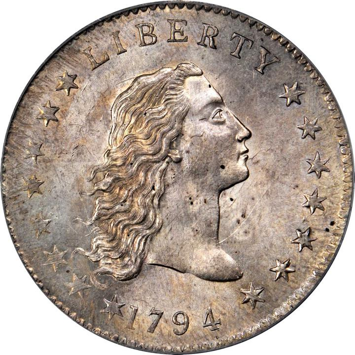 sample image for 1794 Flowing Hair $1  MS