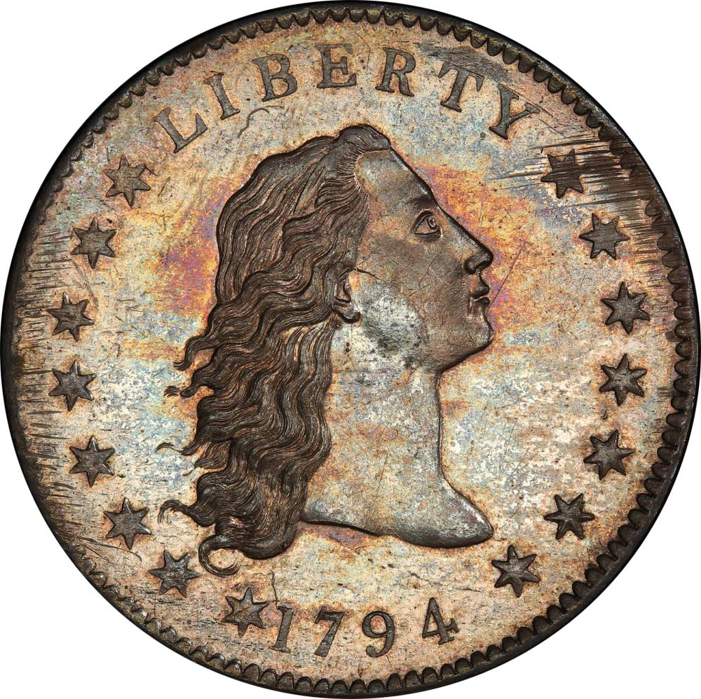 sample image for 1794 Flowing Hair $1  SP Silver Plug