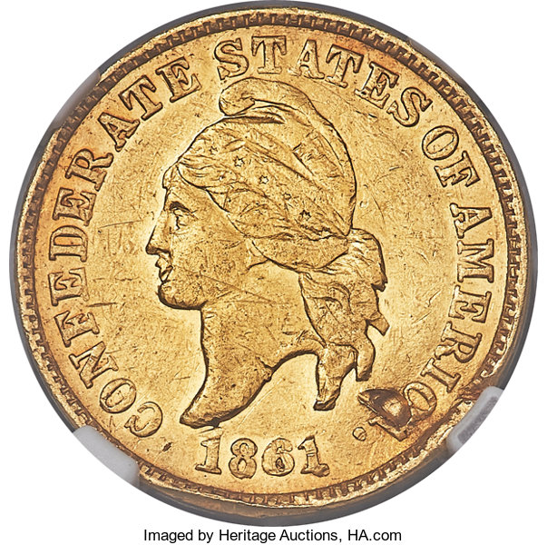 sample image for 1861 CSA 1c PR Gold Restrike
