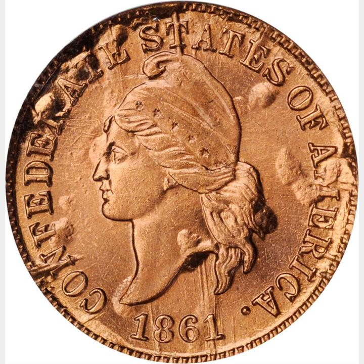 sample image for 1861 CSA 1c PR RB Copper Restrike
