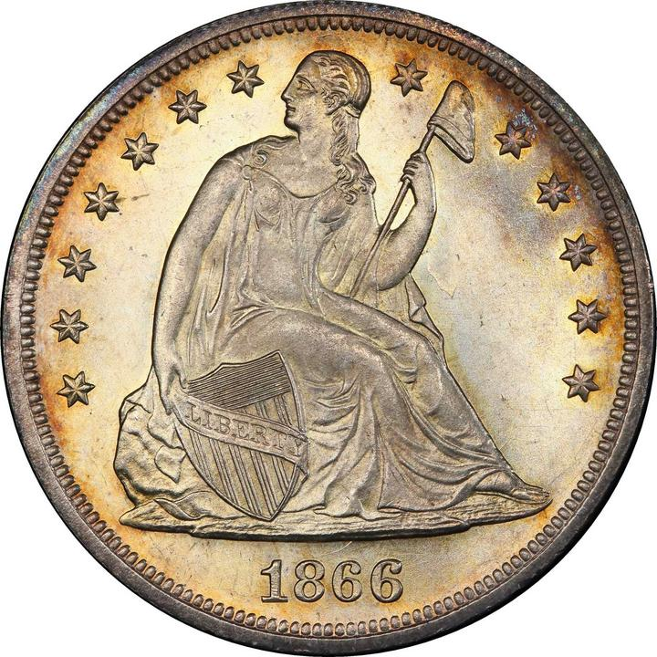 sample image for 1866-1873 $1  MS With Motto [Type]